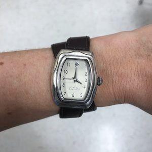 """Silpada T1896 Sterling Silver """"It's a Wrap"""" Watch"""